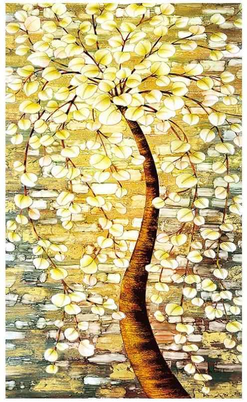 Krajobraz z haftu diamentowego drzewo pieniędzy pełna diamentowa malowanie naklejki gobelin diamentowe kropki obraz diamant kryształ plakat 5d