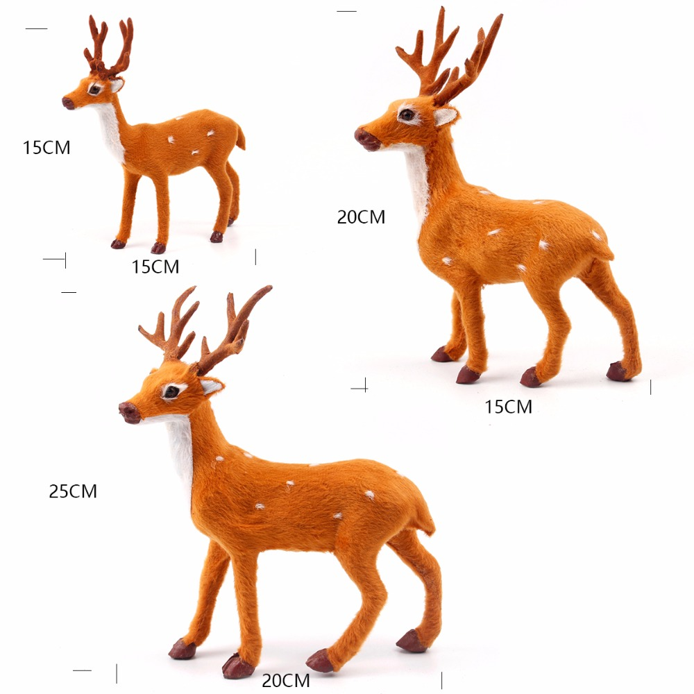 PATIMATE Simulated Plush Reindeer Furry Deer 2018 Merry Christmas Decor for Home Christmas Ornament  Navidad Happy New Year 2019 1