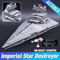 LEPIN 05027 Nuevo 3250 Unids Star Wars Emperador combatientes nave Modelo Kit de Construcción de Ladrillos de Juguete Bloques Compatible JUGUETE