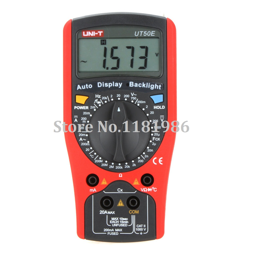 UNI-T UT50E Accurate 19999 Count DMM Digital Multimeters w/ Frequency & Temperature Test Ammeter Multitester Multimetro  цены