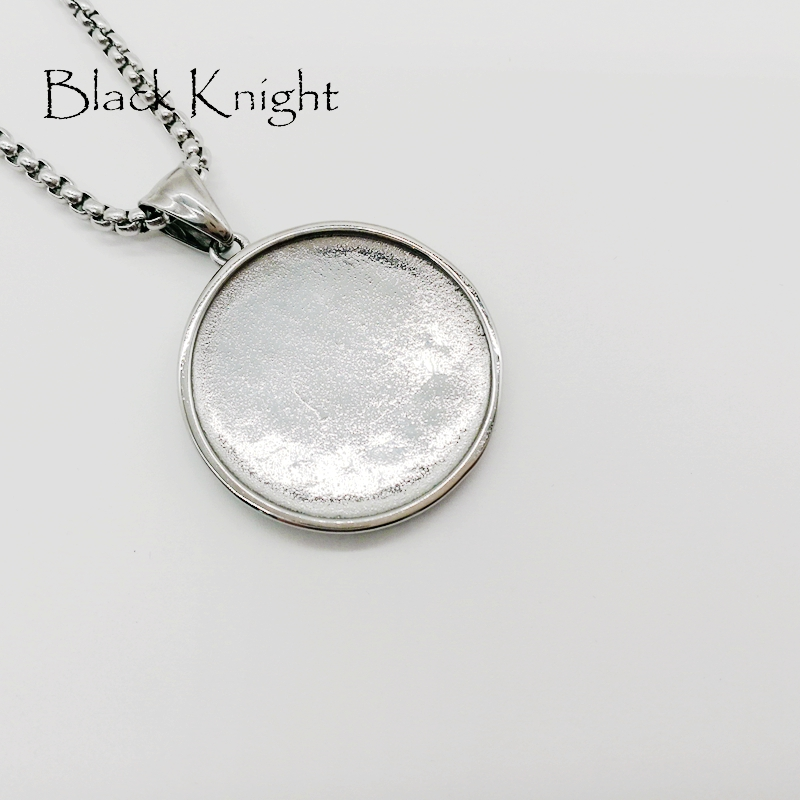 Black Knight Vintage silver color Letter A medal pendant necklace embossed Stainless steel A necklace men fashion BLKN0582 in Pendant Necklaces from Jewelry Accessories