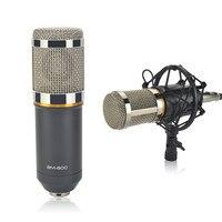 Professionelle microfone BM800 3,5mm Verdrahtete Kondensator Tonaufnahme karaoke Mikrofon + metall Shock Mount für PC Laptop YY TOP