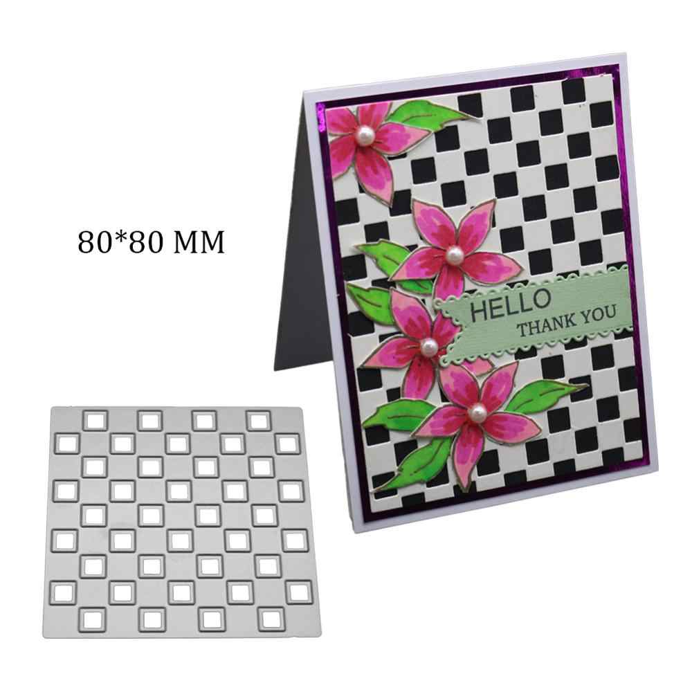 2019 New Arrival Square background Metal Cutting Dies Stencils for DIY Scrapbooking/photo Album stamps Decorative Embossing cuts