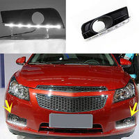 1 Pair High Quality Day Running Light Guide DRL Fit For Chevrolet Cruze 2011 14