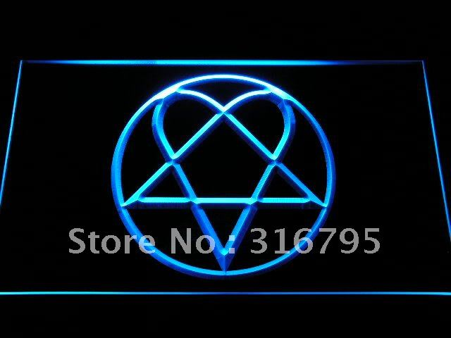 c248 Him Heartagram Logo Band LED Neon Sign with On/Off ...