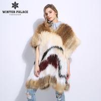 Casual Fashion Slim Fur natural fox fur coat Shawl Cape One size Sleeveless fox fur vest Medium real fox fur coat V 18100