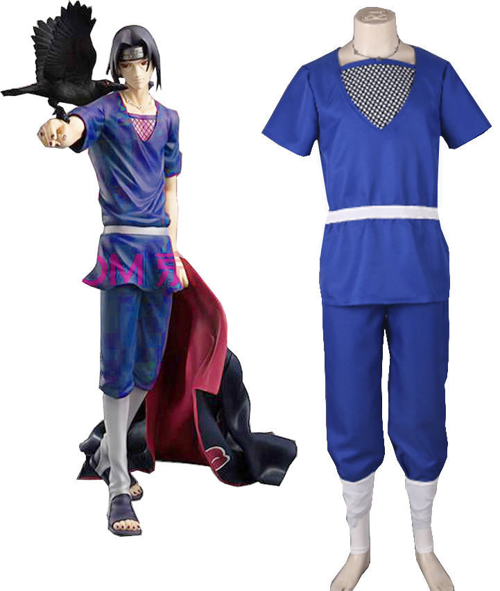 Anime Naruto: Shippuden Cos Uchiha Itachi Halloween Cosplay Man Woman Cosplay Costume Tops+Belts+Pants+Leggings+Necklaces