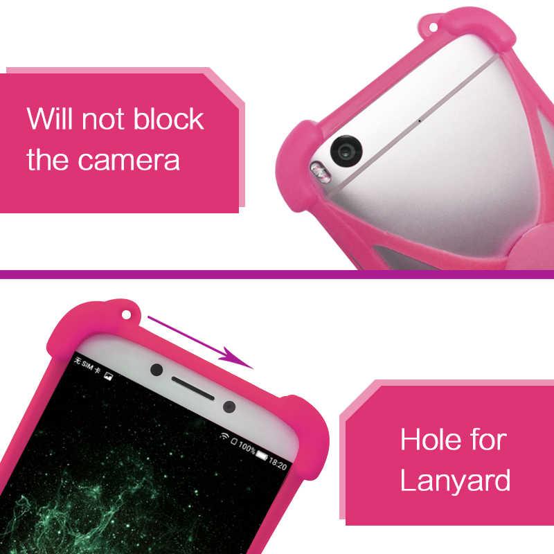 Funda de silicona para Sharp Z3 Universal parachoques de goma elástica para Sharp Android One X4 titular del teléfono