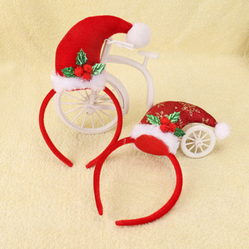 New Adult Kids Christmas Xmas Headband Hat Costume Hair Clip Reindeer Santa Gift