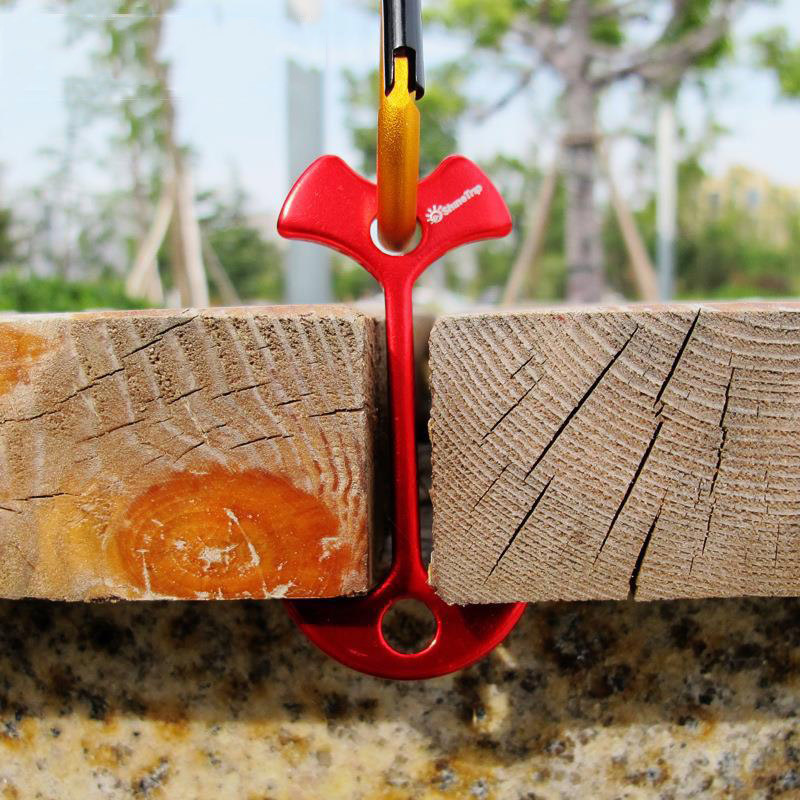 4pcs Lengthen Floor Nail Camp Wind Rope Tent Peg Path Deck Anchor Chains Linked Bone Nails Tent Nail 7.8x3.5cm