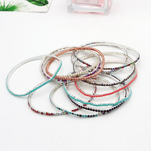 HOT! Mecresh Multi Color Crystal Bracelets for Women & Girls Floral Bridal Ankle Bracelets & Bangles Wedding Engagement Jewelry(China)