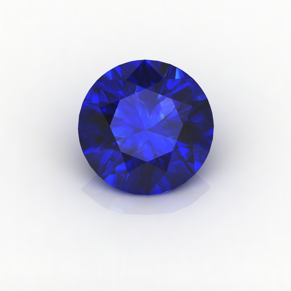 1ct Good Quality 1.0mm-2.0mm Round Blue Color Natura Stone Blue Sapphires blouse color blue