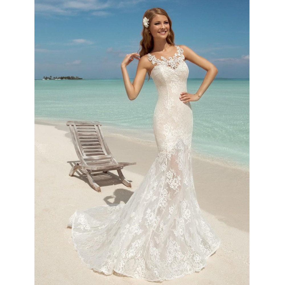 Buy elegant mermaid beach wedding dresses for Elegant wedding dresses 2017