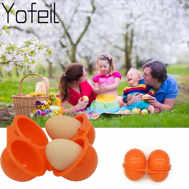 Brand new Outdoor Camping Hiking Picnic kitchen For  Portable storage Case holder Plastic Container Convenient Two Eggs Box 1
