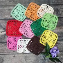 Modern Christmas Placemats Cup Mat Coasters Table Mats Cotton Crochet Place Doily 10cm Square Placemat Kitchen Pad