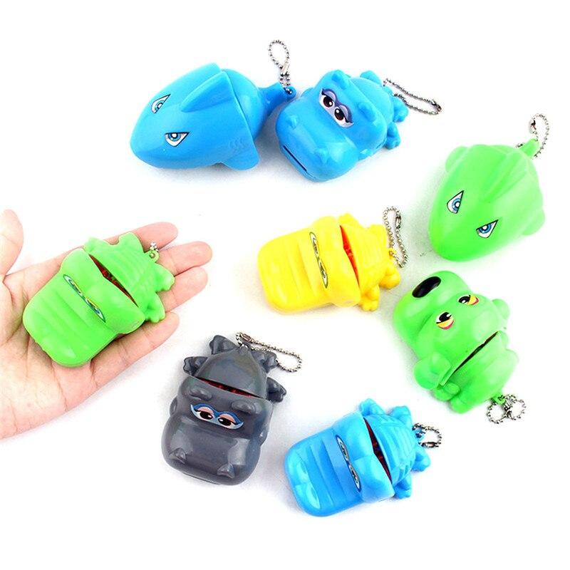 Color Random !!! Cute Bite Hand Shark Prank Toys Biting Finger Jokes Family Game Children Toy