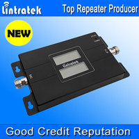 2017 Lintratek Celular Signal Booster GSM 900MHz 3G 2100MHz Dual Band Mobile Phone Signal Repeater Double