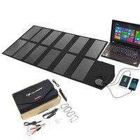 Портативные солнечные панели Зарядное устройство 80 Вт Зарядное устройство на солнечных батареях для телефона ноутбука Зарядное устройств