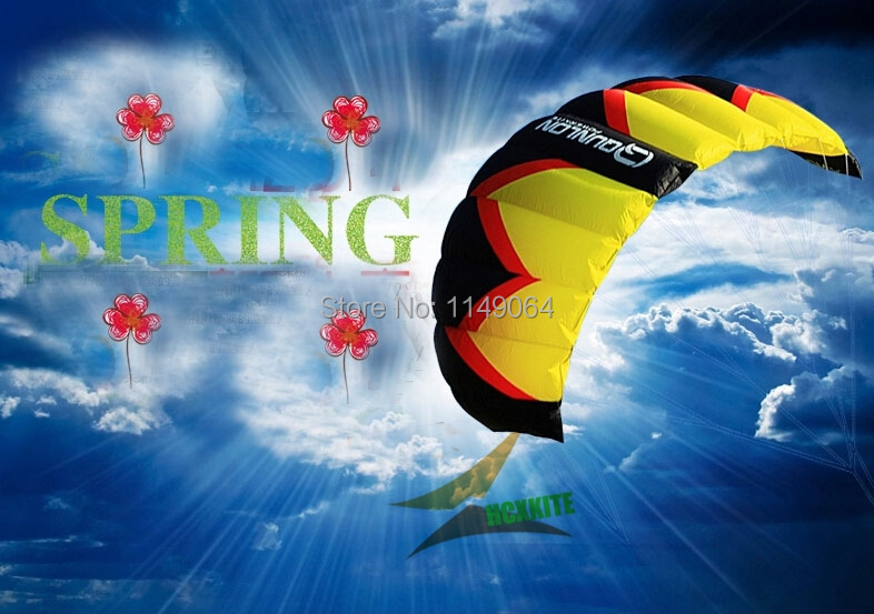 free shipping high quality crom 2 power kite flying kite surf  outdoor fun & sports parafoil pipa volante kiteboard line kite professional stunt kite designs outdoor sport power kite 4 line beach kite with handles flying line string