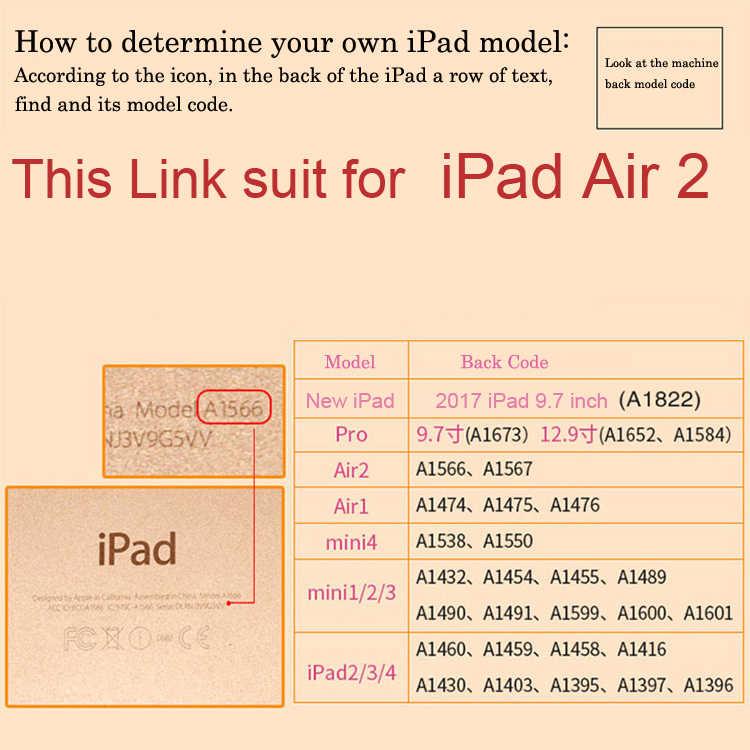 Untuk iPad Air 2 Nirkabel Bluetooth Keyboard Case untuk iPad Air 2 Tablet Tipis Aluminium Alloy Flip Stand Cover + stylus