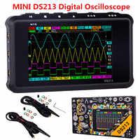 4 canaux 100 MS/s MINI Nano DSO213 DS213 professionnel Portable numérique Oscilloscope numérique DSO 213 DS 213 avec sonde X1 & X10
