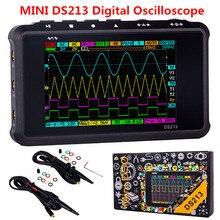 MINI Oscilloscope numérique Portable à 4 canaux 100 MS/s Nano DSO213 DS213 DS213, Oscilloscope numérique professionnel DSO 213 DS 213 avec sonde X1 et X10