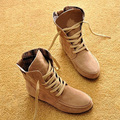 new arrived fashion baby girl shoe autumn and winter flat lace-up martin boot girl  snow boots fur platform European boot shoe