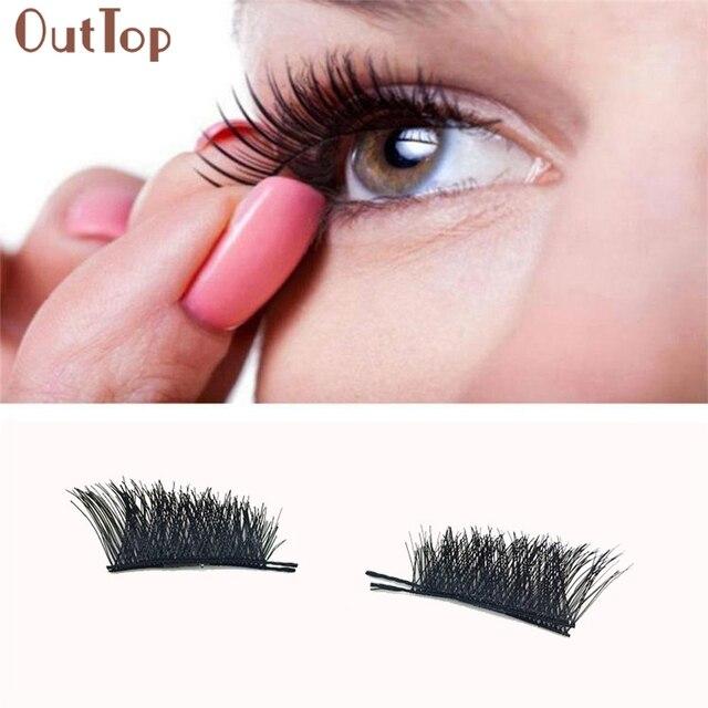 d510cbb4fdc Adjustable 0.2mm Magnetic Eyelashes Extensions Crisscross Long Thick Fasle Eye  Lash Women Cosmetic Makeup Drop Shipping 170727