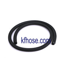 Auto Racing AN6 Black Nylon Braided Fuel Oil Gas Hose Line 1M