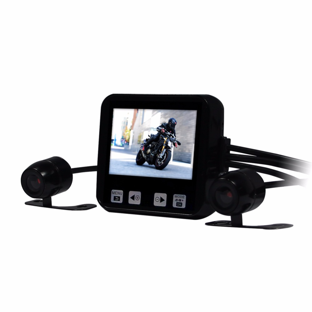 2017 Vsys Most Popular C6 full hd 720p mini dual lens motorcycle sport camera DVR with latest upgraded design