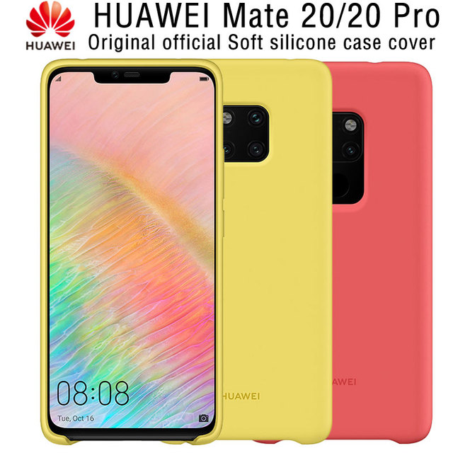reputable site 3fe3a eca9c US $22.8 40% OFF|Aliexpress.com : Buy HUAWEI Mate 20 Pro Case Genuine  Original Offical New High Quality Protector Silicone Soft Back Cover HUAWEI  Mate ...