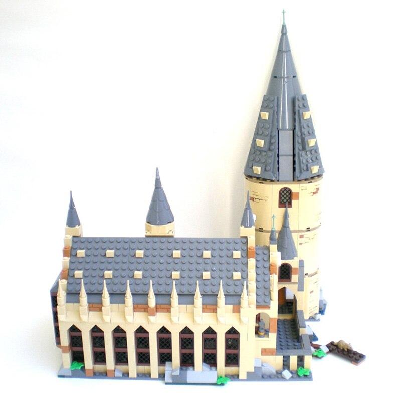Харри Хогвартс Поттер большой зал Экспресс замок строительные блоки кирпичи DIY игрушки для детей Подарки Совместимость legoINGly 75954
