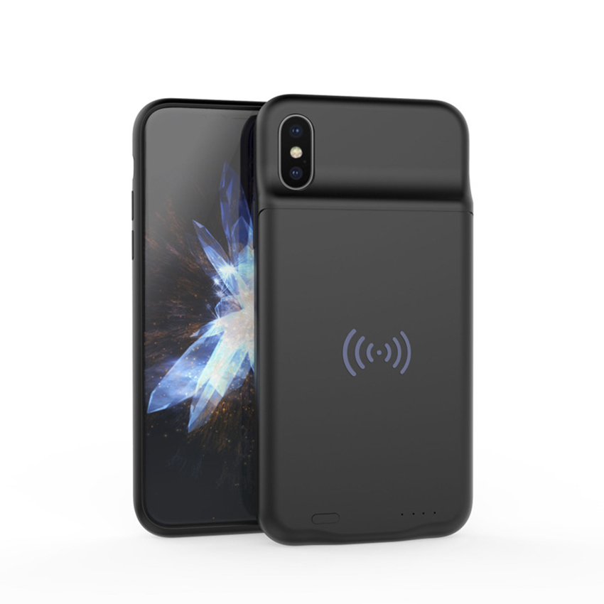 Ultra Thin wireless Charging Case For iphone X External Power Bank Back Cover Battery Charger Adapter support 3600mAh With audio