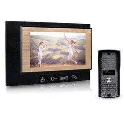 Главная Безопасность 7 дюймов TFT экран Цвет видео домофон системы ночное видение камера домофона Колокол 11 аккорд мелодия