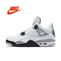 Оригинальный Для мужчин Nike Air Jordan 4 OG AJ4 белый Ce Для мужчин t Для мужчин Мужская баскетбольная обувь спортивные кроссовки для Для мужчин 840606 192