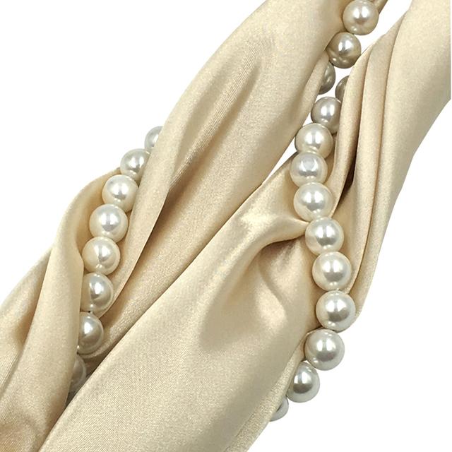 Pearls Twist Necklace Scarf | Jewelry Scarf