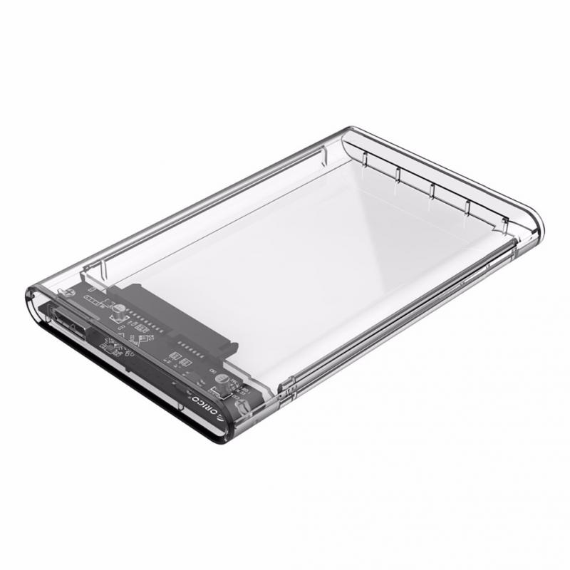 2018 2.5 inch Transparent HDD Case USB3.0 to Sata 3.0 Tool Free 5 Gbps Support UASP Protocol SATA3.0 Hard Drive Enclosure