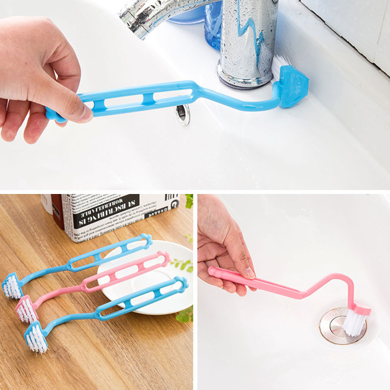 Щетка для чистки туалета, аксессуары для чистки ванной комнаты, портативная щетка для унитаза, угловая щетка, 1 шт., изогнутый скребок с ручкой