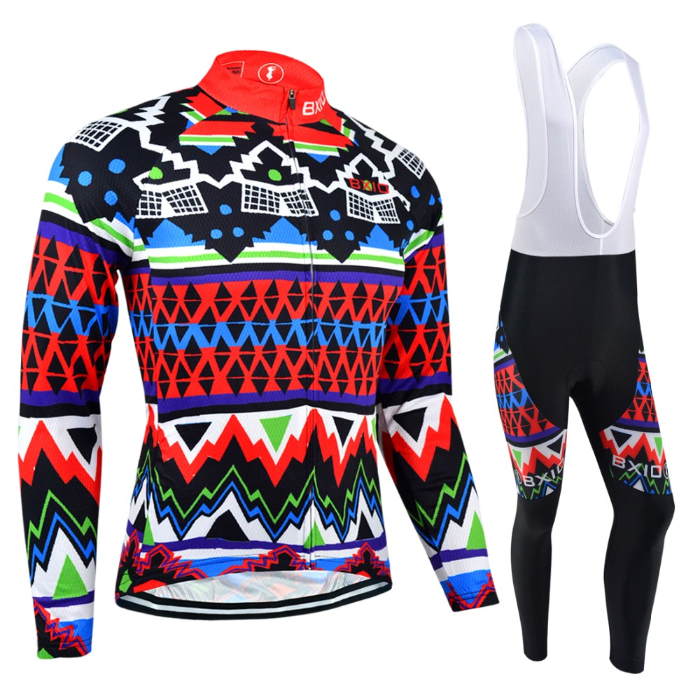 Bxio Winter Cycling Jersey MTB Bike Long Sleeve Maillot Ciclismo Thermal Fleece Pro Bicycle Clothing Cuissard Cycliste Equipe 27