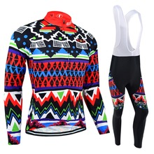 Фотография Bxio Winter Cycling Jersey MTB Bike Long Sleeve Maillot Ciclismo Thermal Fleece Pro Bicycle Clothing Cuissard Cycliste Equipe 27