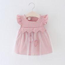 2019 New Baby Girls Dress love heart cotton dresses Newborn baby dress bebe Girl Princess Infant Summer Patchwork Voile Clothing