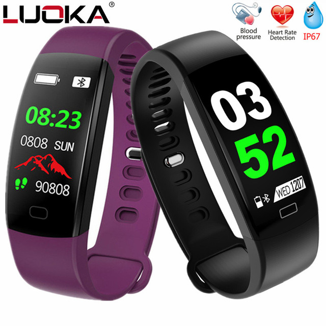 LUOKA F64 Smart Bracelet Fitness Tracker Wristband Blood Pressure Heart Rate Monitor With Pedometer Bracelet For Android IOS