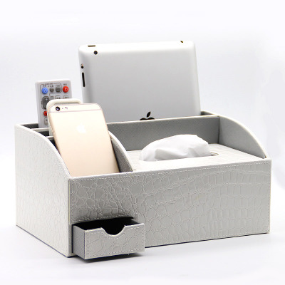 PU leather tissue pumping box home coffee table desktop remote control tea miscellaneously storage box