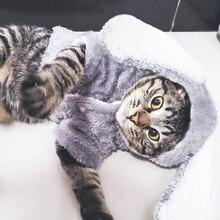Abrigo de lana cálido para perro, chaqueta con orejas grandes de conejo, diseño bonito, abrigos para cachorro de perro, ropa para gato y mascota, S-2XL