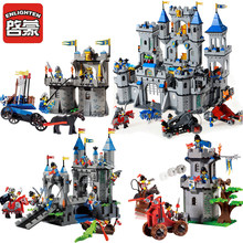 Enlighten Compatible Legoed Castle Dragon Knights Caribbean Pirate Sets Model Bricks Building Blocks Boys Child Kids Toys Gifts(China)