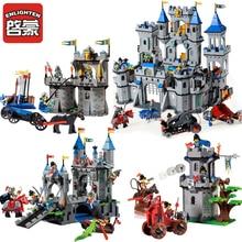 Enlighten Compatible Legoed Castle Dragon Knights Caribbean Pirate Sets Model Bricks Build