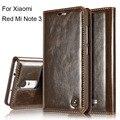 Tampa articulada de luxo para xiaomi redmi note 3 caso genuíno carteira de couro real titular do cartão caso de telefone redmi note 3/prime/pro