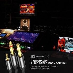 Image 4 - Qgeem Jack 3.5Mm Naar 6.35Mm * 2 Adapter Audio Kabel Voor Mixer Versterker Luidspreker Vergulde 6.5Mm 3.5 Jack Splitter Audio Kabel
