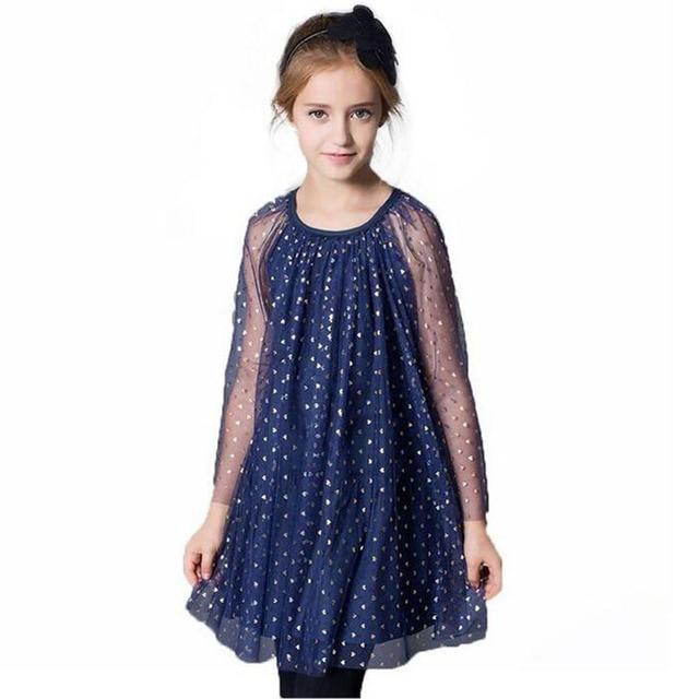 21ecd110264dd 2019 mode printemps été style marque fille vêtements maille fleur fille robe  princesse fête robe enfants