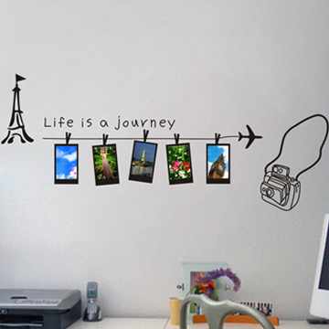 SIZE:1490 x 510mm cheap photo diy wall stickers photo frame wall ...